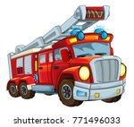 cartoon happy and funny cartoon ... | Shutterstock . vector #771496033