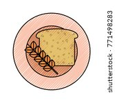 dish with bread icon | Shutterstock .eps vector #771498283