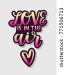 happy valentine's day card ... | Shutterstock .eps vector #771506713