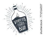 hand drawn ship in a bottle... | Shutterstock .eps vector #771516037