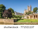 bath abbey and the orangerie on ... | Shutterstock . vector #771521137