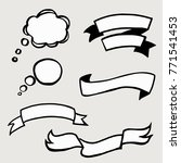 set of sketch banners and... | Shutterstock .eps vector #771541453