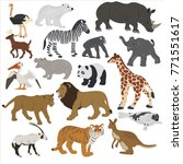 collection of african animals... | Shutterstock .eps vector #771551617