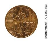 50 cents coin money  eur  ... | Shutterstock . vector #771553453