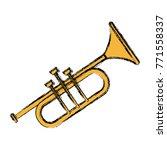trumpet music instrument | Shutterstock .eps vector #771558337