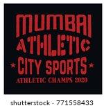 mumbai sport t shirt design ... | Shutterstock . vector #771558433