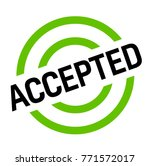 accepted sticker. authentic... | Shutterstock . vector #771572017