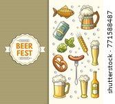 a set of oktoberfest icons. | Shutterstock . vector #771588487