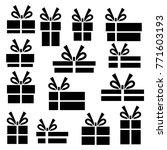 vector set of gift box...   Shutterstock .eps vector #771603193