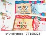 Постер, плакат: Cuban convertible pesos is