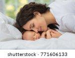 mom's love newborn. | Shutterstock . vector #771606133