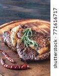 roasted beef steak on the... | Shutterstock . vector #771616717