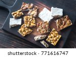 slices of turron on the wooden...   Shutterstock . vector #771616747