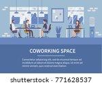 people in coworking office... | Shutterstock .eps vector #771628537
