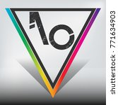 ao multicolor triangle with... | Shutterstock .eps vector #771634903