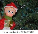 Small photo of Vintage Christmas caroler ornament