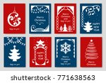 set of simple christmas cards.... | Shutterstock .eps vector #771638563