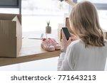 partial view of businesswoman... | Shutterstock . vector #771643213