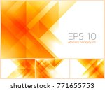 triangle and fractal abstract... | Shutterstock .eps vector #771655753