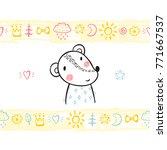 t shirt print design for kids... | Shutterstock .eps vector #771667537