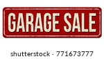 garage sale vintage rusty metal ... | Shutterstock .eps vector #771673777