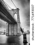 hdr view of brooklyn bridge  ... | Shutterstock . vector #771693037