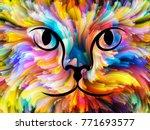 Cat Paint Series. Backdrop...