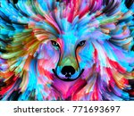 dog paint series. background... | Shutterstock . vector #771693697