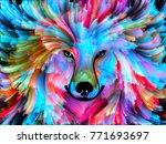 dog paint series. background... | Shutterstock . vector #771693697