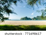 beautiful beach scenery with... | Shutterstock . vector #771698617