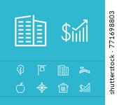 editable building icons set...