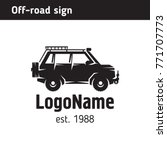 logo off road jeep  for travel... | Shutterstock .eps vector #771707773