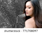 portrait attractive beautiful...   Shutterstock . vector #771708097