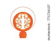 human brain in lightbulb | Shutterstock .eps vector #771716137