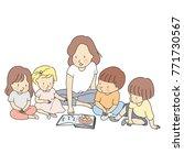 vector illustration of teacher
