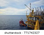 industrial offshore oil and gas ... | Shutterstock . vector #771742327