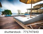 comfortable place. row of... | Shutterstock . vector #771747643