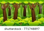 a dense forest illustration for ... | Shutterstock .eps vector #771748897