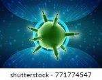 3d rendering viruses in... | Shutterstock . vector #771774547