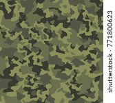 camouflage seamless pattern.... | Shutterstock .eps vector #771800623