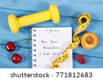 new year resolutions or goals... | Shutterstock . vector #771812683
