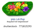 thai desserts 1   mung bean...   Shutterstock .eps vector #771815293