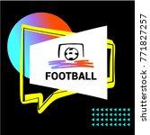 concept design image for sport... | Shutterstock .eps vector #771827257