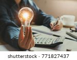 new idea and creative concept...   Shutterstock . vector #771827437