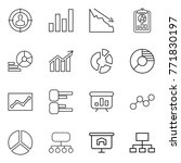 thin line icon set   target... | Shutterstock .eps vector #771830197