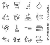 thin line icon set   cleanser ... | Shutterstock .eps vector #771830263