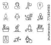 thin line icon set   money gift ... | Shutterstock .eps vector #771834583