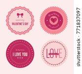 valentine s day set of label... | Shutterstock .eps vector #771837097