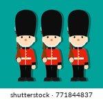 queen's guard in traditional... | Shutterstock .eps vector #771844837