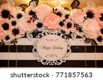 happy birthday banner | Shutterstock . vector #771857563